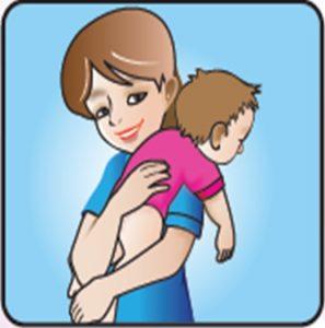 cara sendawakan bayi dalam posisi bahu
