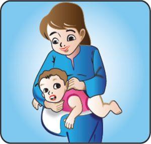 cara sendawakan bayi dalam posisi riba